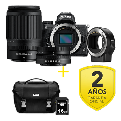 Nikon Z50 + 16-50 + 50-250mm