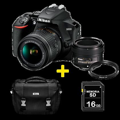 Nikon D3500 + 50mm 1.8 + Filtro UV