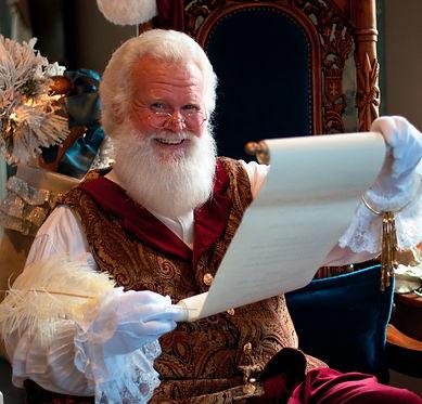Santa Boggs Georgia reading naughty and nice list