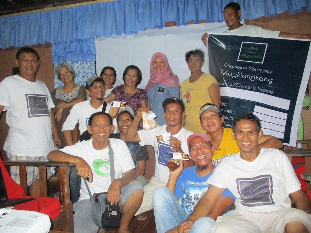 Our OPM Enrolled Farmers in our champion barangay.