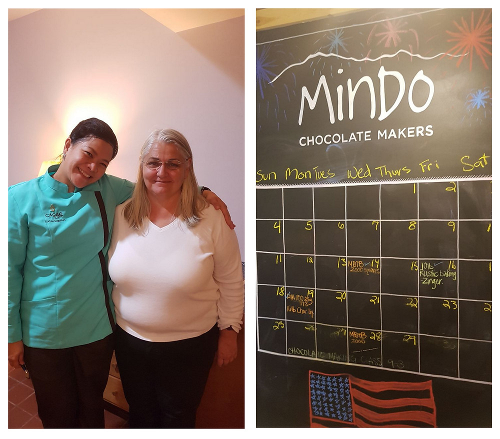 Me with Barbara, founder of Mindo Chocolate Makers at Dexter, Michigan.