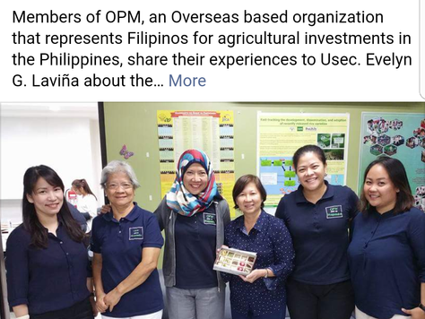 OFW para sa Magsasaka meets with Department of Agriculture Undersecretary for High-Value Crops and D