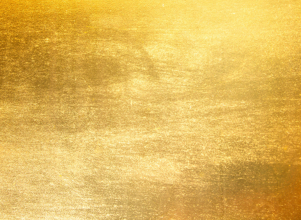 Shiny yellow leaf gold foil texture back