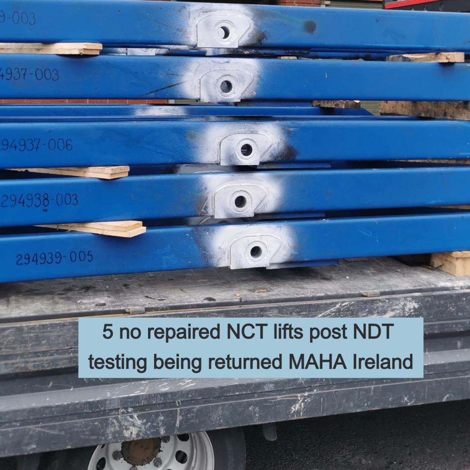 NCT lifts returned to MAHA Ireland