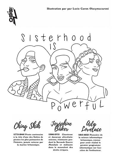 Cahier de coloriage féministe