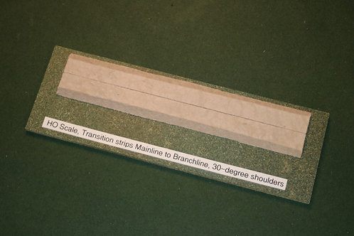 HO Scale Transition Strips, 30-degree slopes (2 ea.)