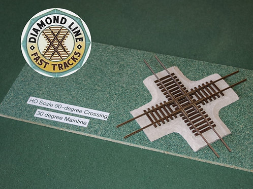 HO Scale 90-degree Crossing Pad