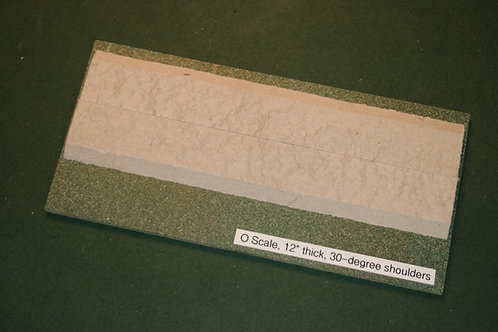 O Scale Roadbed, 6.4mm Branchline, 30-degree shoulders