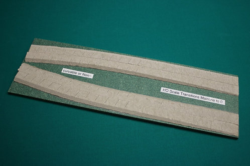 """HO Scale Transition Strips, Mainline to 0-18"""" long"""
