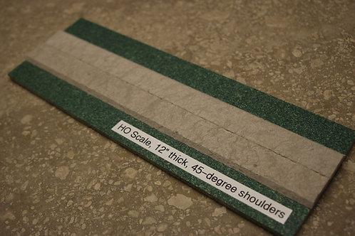 HO Scale Roadbed, 3.5mm branchline, 45-degree shoulders