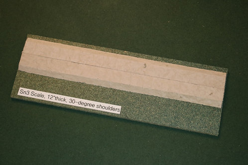 Sn3 Scale Roadbed, 4.5mm branchline, 30-degree shoulders