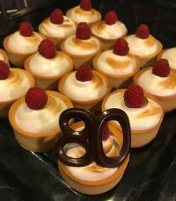 Framboos Meringue taartjes
