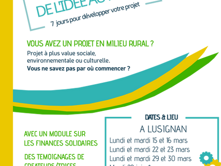 DE L'IDEE AU PROJET - Session de mars 2021