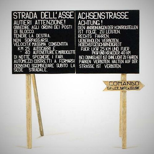 Cod. 4060 ITALIAN & GERMAN ROAD SIGNS NORTH AFRICA 2