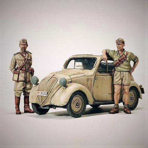 "Cod. 4073 FIAT MOD. 500 A ""TOPOLINO"" NORD AFRICA"