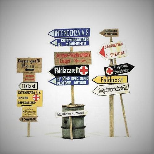 Cod. 4059 ITALIAN & GERMAN ROAD SIGNS NORTH AFRICA 1