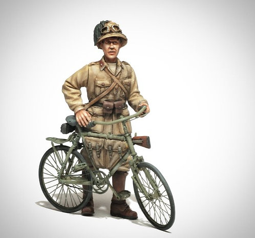Cod. 4088 Military Bicycle Bianchi model 25 with Bersagliere N.Africa