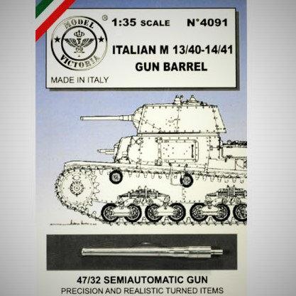 Cod. 4091 CANNONE PER CARRI M13/40-M14/41