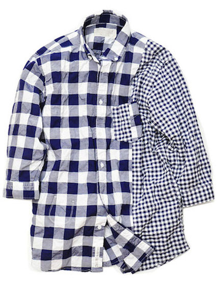 KL15HSH55 GIMGHAM CHECK SWITCH SHIRT