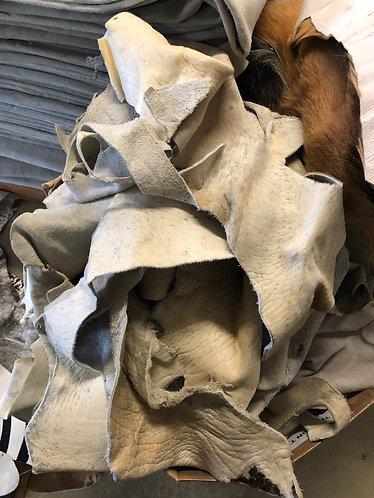 Cow hide scrap off cuts 1kg mix bag