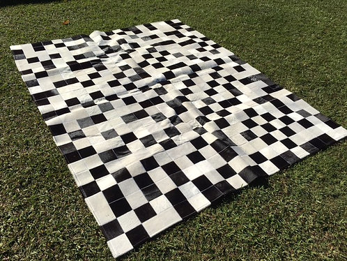 Patchwork Cow Hide Rug