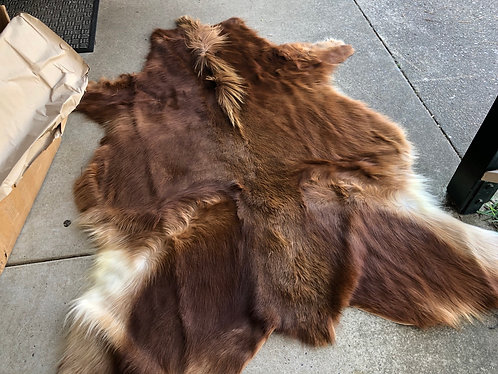 Icelandic exotic skins (approx size 1.6 x 1.2m)