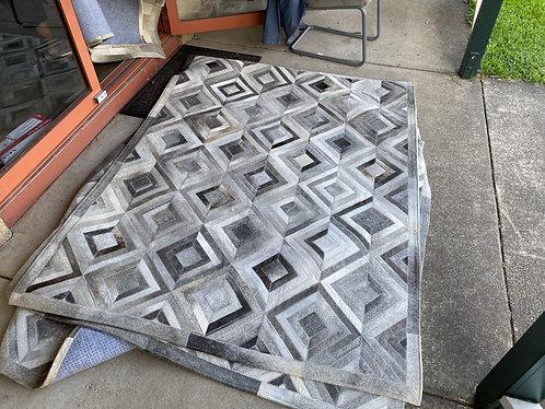 Grey chevron 2m x 1.5m patchwork 06