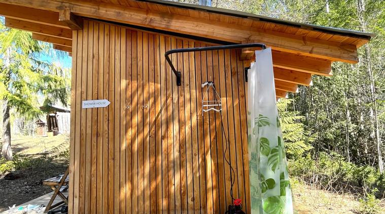 Outdoor camp shower