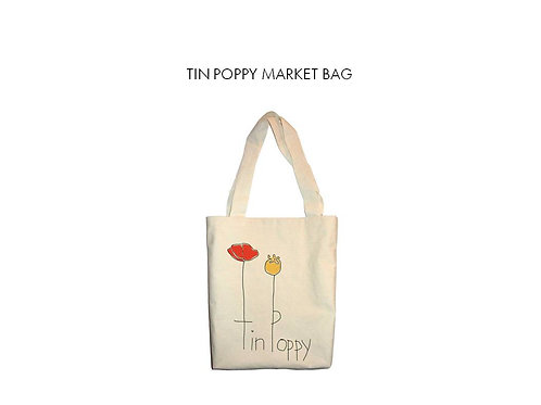 Tin Poppy Market Bag