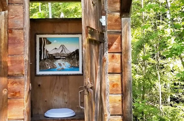 Violet's outhouse