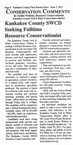 Resource Conservationist Job Article
