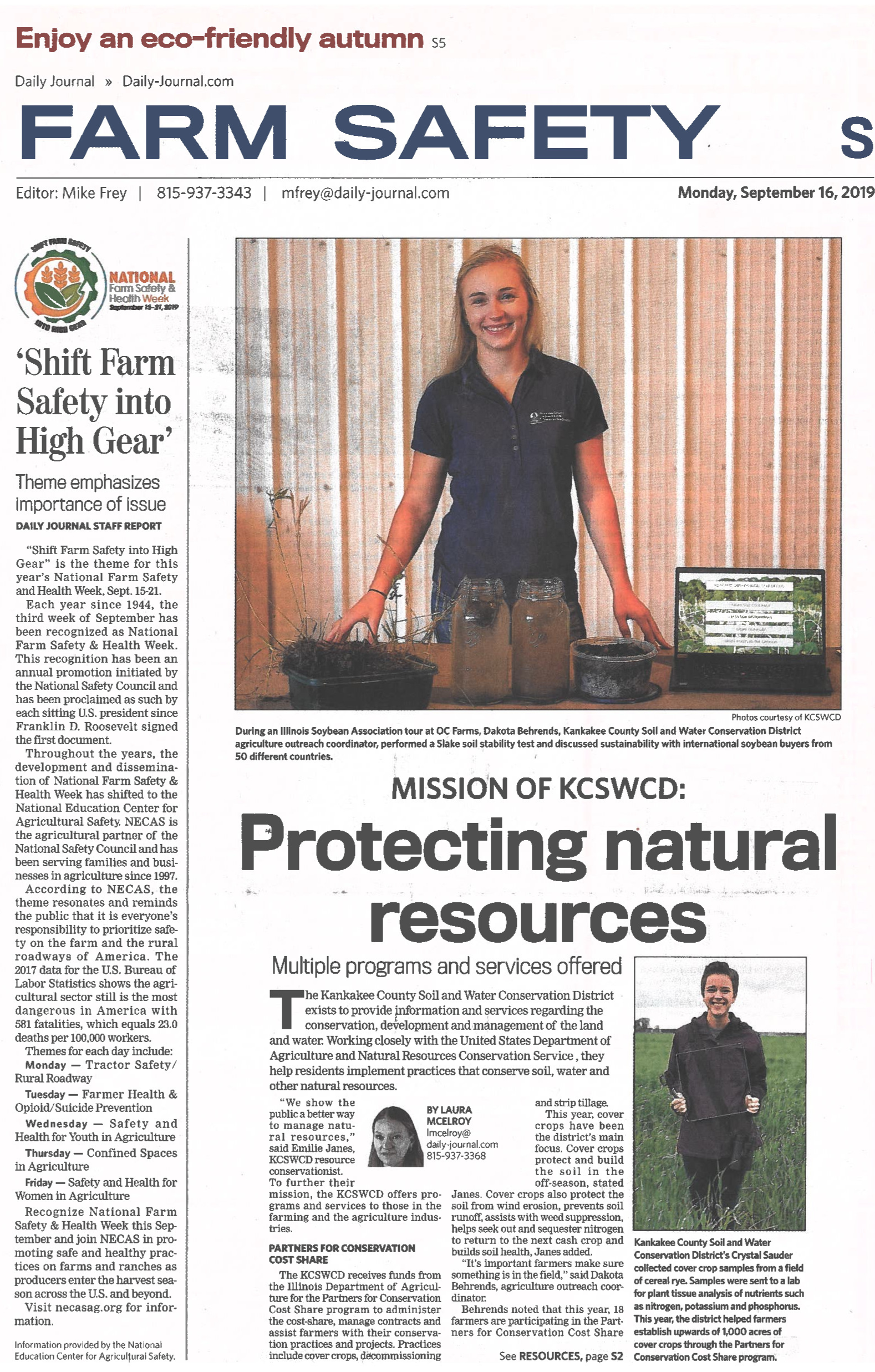 Farm Safety Week Daily Journal 9