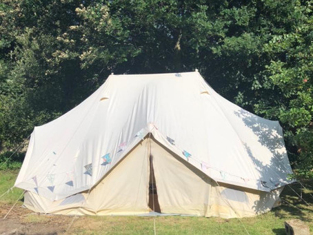 Wise Woman Wellbeing treatment tent!