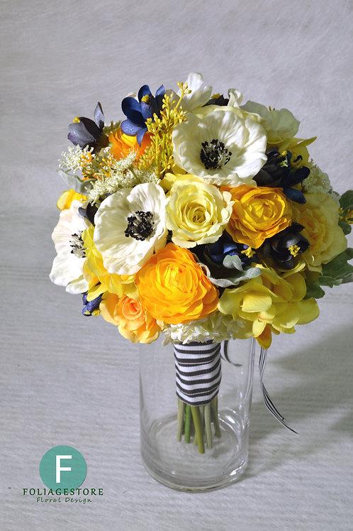 夢羅麗莎絲花球 - 橙 x 白 x 黃系列