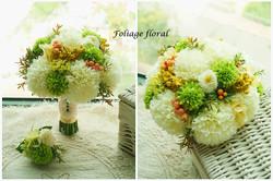 白綠色系列_絲花球39