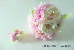 粉色系列_絲花球023