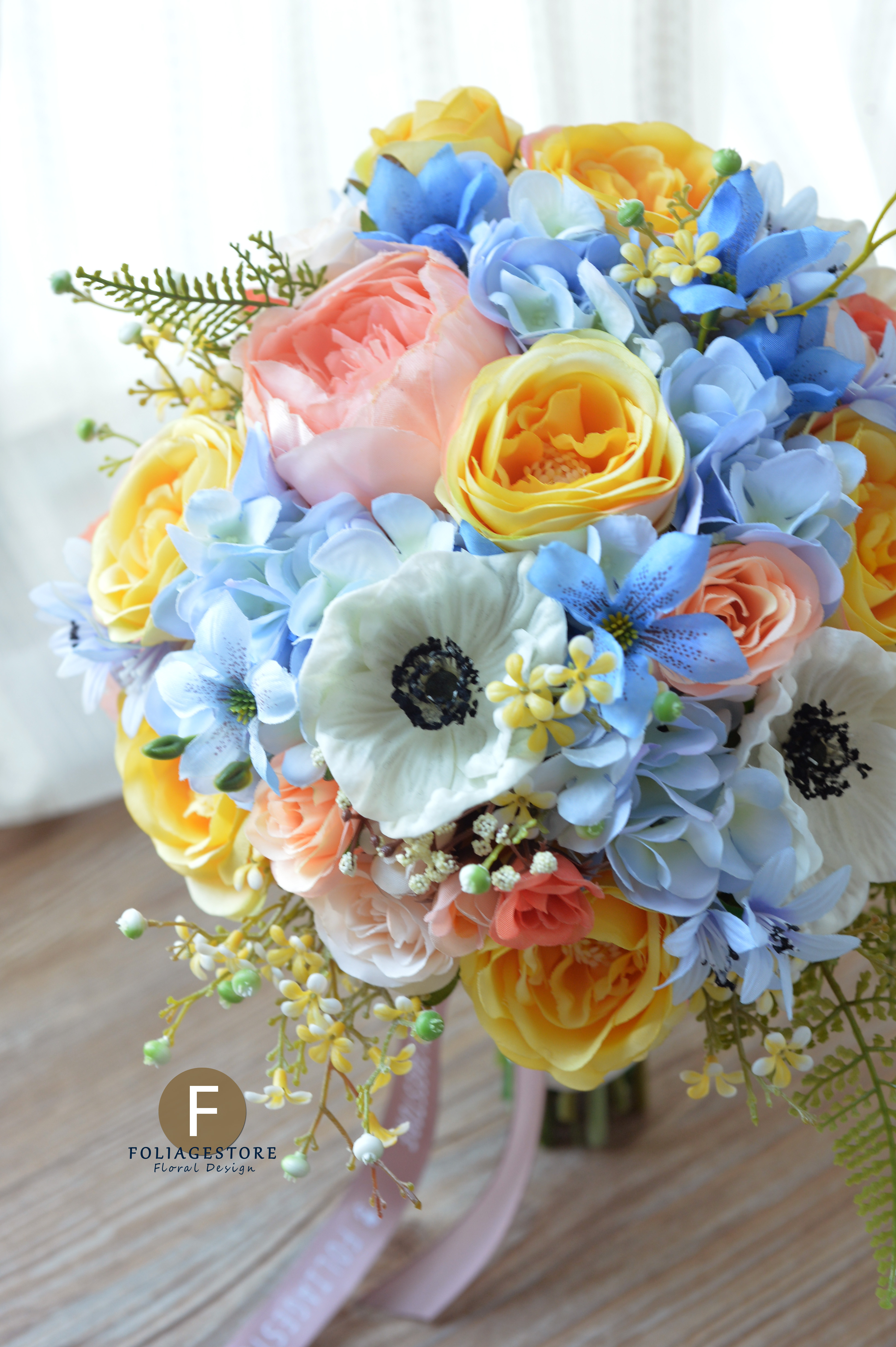 藍色系列_絲花球42