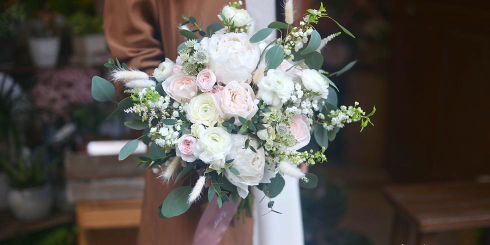 01a. Fresh Wedding Bouquet 鮮花花球班