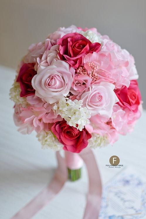 玫瑰繡球絲花球 - 粉 X 桃紅系列