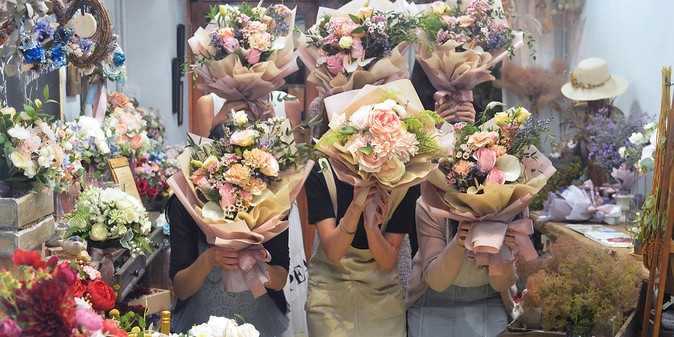 03.  Fresh Gift Bouquet  精緻鮮花束班  Afternoon Class