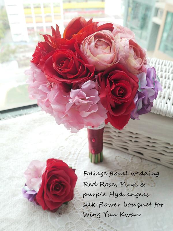 紅色系列_絲花球24