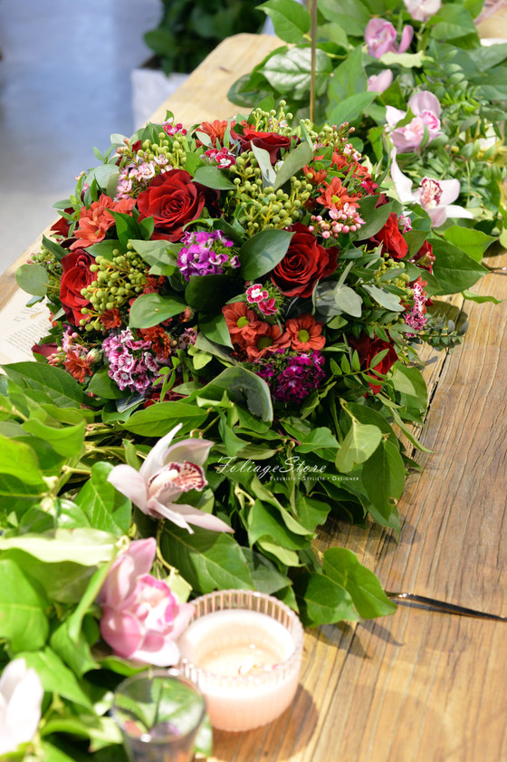 [ Workshop - Table Centerpiece ] Snapshot photo with casual by details sth....greenery runner w/ Cen