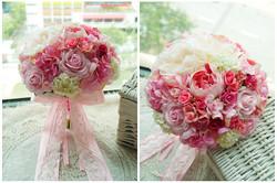 粉色系列_絲花球124