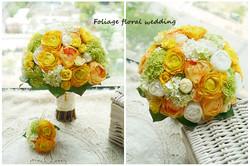 橙黃及香檳色系列_絲花球68