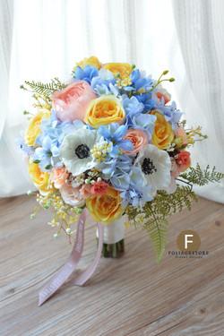 藍色系列_絲花球40
