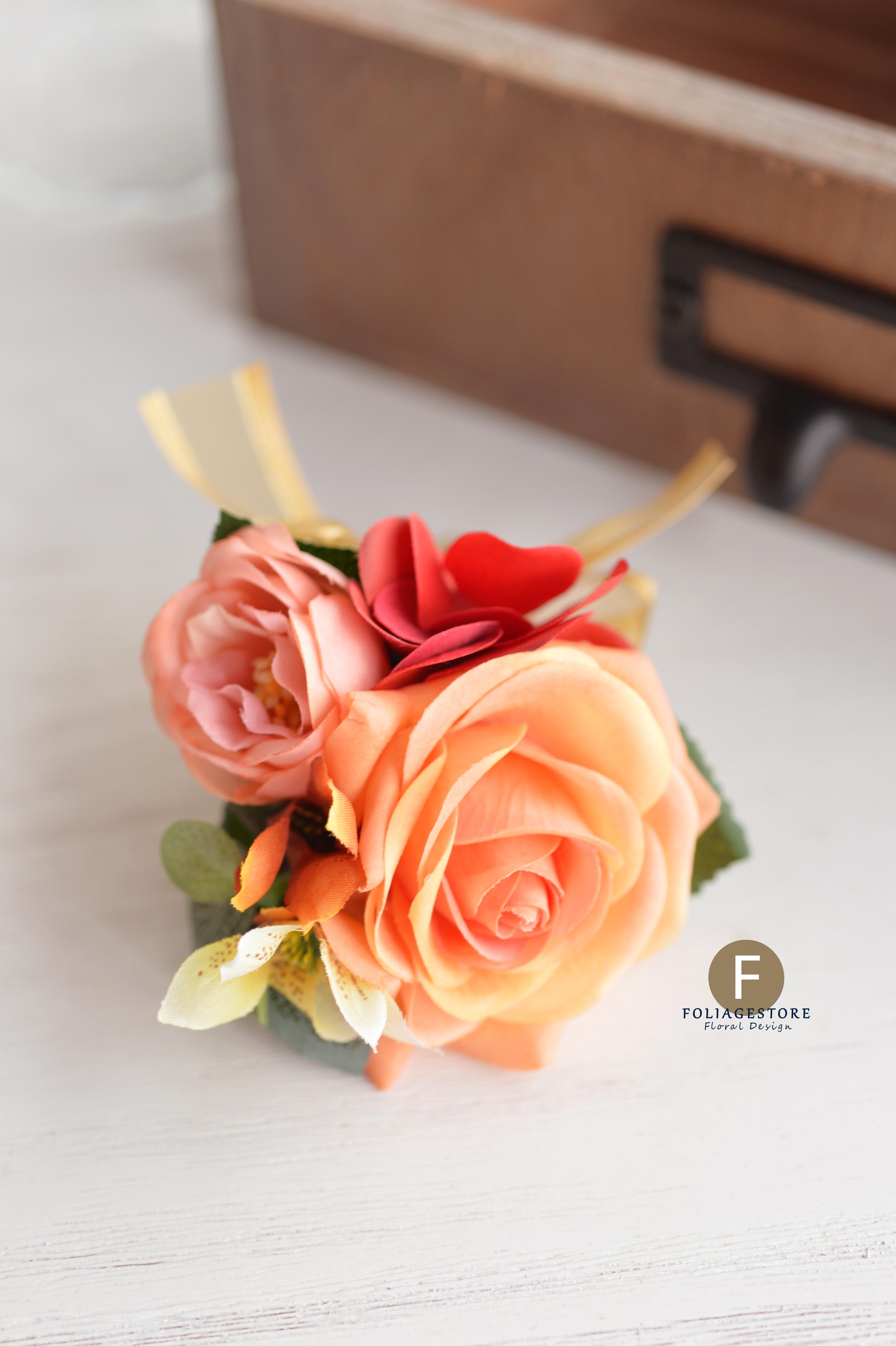 橙黃及香檳色系列_絲花球101