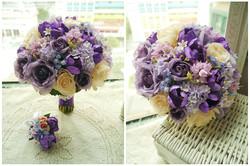 紫色系列_絲花球64