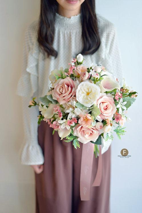 庭園玫瑰絲花球 - 古典粉 X 米白系列