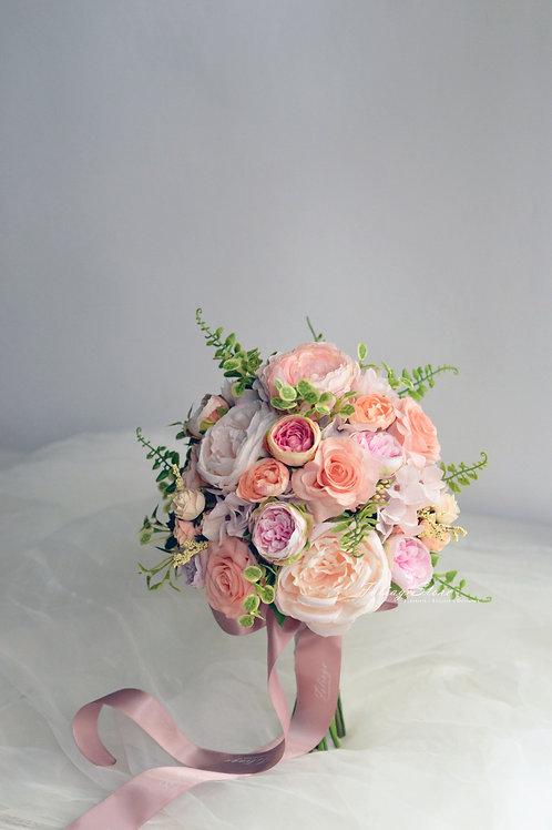 牡丹庭園玫瑰絲花球 - 香檳 X 粉綠系列