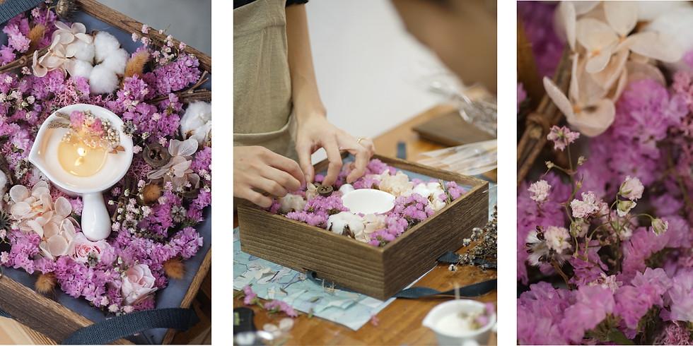 【天然潤膚蠟燭及保鮮花盒】